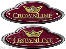 """CrownLine Boat Remastered Oval Classic Decals 10""""X 3.5"""" each"""