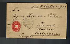 1892 Mexico DF cover to Belgium