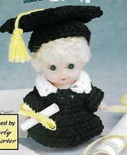 CUTE Tiny Tots Graduation Doll/Crochet Pattern INSTRUCTIONS ONLY