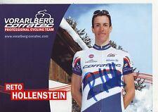 CYCLISME carte cycliste RETO HOLLENSTEIN équipe VORARLBERG CORRATEC signée