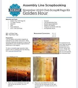Club Scrap Kit - Golden Hour