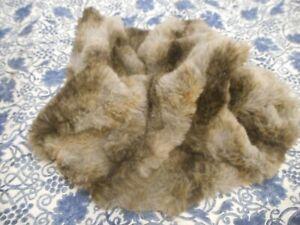 John Lewis Cat Dog Pet Cosy Medium Fluffy Grey Brown Fleece Crafts 118cm x 65cm