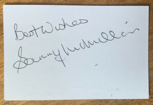 Signed Sammy McMillan 1960s Manchester United Football White Card Autograph
