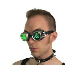 PAWSTAR LED Goggles - Light Up Biohazard Green CyberPunk cyber Punk [LI/BIO]5416