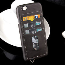 For iphone 6 6s plus,New Slim Leather +PC With 3 Card Solt Shockproof Case Cover