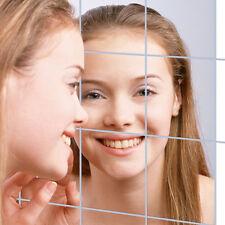 9 Pièces Carré 3D Décalcomanie Miroir Autocollant Mural Cuisine Pour