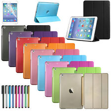 Smart Cover Case Hard Stand For Apple iPad Air 2 + Screen Protector & Stylus Pen