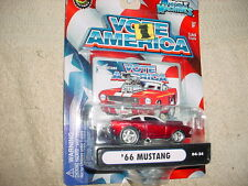 MUSCLE MACHINES '66 MUSTANG RED 04-34 VOTE AMERICA SERIES FREE USA SHIPPING