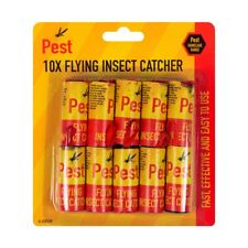 5 X  10 Stick Fly Insect Catchers poison free