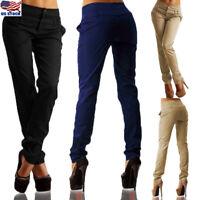 Women High Waist Slim Pencil Skinny Stretchy Long Jeggings Pencil Pants Trousers