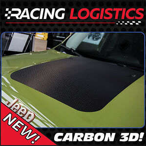 JEEP RENEGADE HOOD CARBON 3D STICKER DECAL TRAILHAWK LIMITED PERFECT SPORT FIT