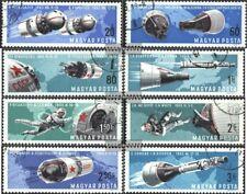 Ungarn 2299A-2306A (kompl.Ausg.) gestempelt 1966 Bemannte Weltraumfahrt