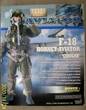 """Elite Force F-18 Hornet Aviator """"Cougar"""" with accessories and stand No. 34287"""