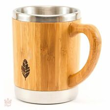 Bamboo Mug Coffee Cup Lid Travel Wooden Beer Eco Handle Tea Natural Wood Healthy