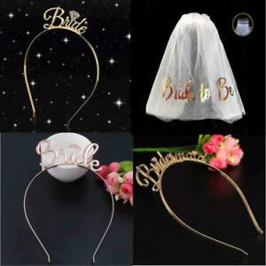 Bride Veil Bridesmaid Tiara Crown Headband Wedding Hen Party Hair Accessory UK