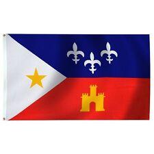 3x5 Louisiana Acadiana Premium Quality Flag 3'x5' Cajun Banner Grommets