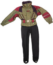 Vintage 90s SPYDER SKI SUIT 1 One Piece Romper Stirrup Stretch Pants Ladies sz 4