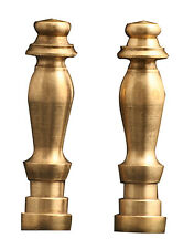 2 Pk Royal Designs Lamp Finials Hand Casted Solid Brass