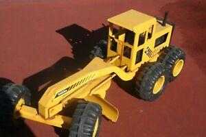 Vintage TONKA Yellow Metal Road Grader Toy 16210 - A