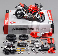 Motorcycle Diecast Metal Kit Toy 1/12 Ducati 696 Maisto Autocycle Assembly Model