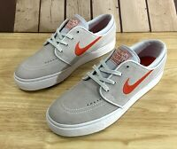 Men's Sz 7.5 Nike SB Zoom Stefan Janoski Skate Shoes Grey Red 633014 060