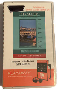 PLAYAWAY Pimsleur ITALIAN Short Course Language Audiobook FREE SHIPPING