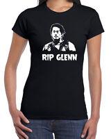 543 RIP Glenn womens T-shirt tribute walking zombie tv show dead vintage negan