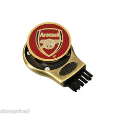 Arsenal FC Gruve più pulito e Golf Ball Marker. scanalatura Spazzola per pulizia
