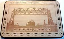 Duluth Minnesota Aerial Lift Bridge Cribbage Board
