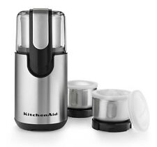 New KitchenAid BCG211OB Onyx Black Blade Coffee and Spice Grinder With Bowls