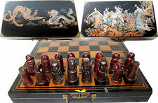 ANCIENT STYLE looking  chinese Chess set beautiful  box board 18 X 19  inch