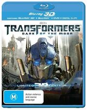 Transformers 3 DARK OF THE MOON : NEW Blu-Ray 3D / 2D / Digital Copy