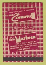 Matchbook Cover - Hotel Markeen Buffalo NY 40 Strike