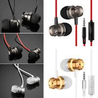 3.5mm W/ Mic Super Bass Music In ear Stereo Headphone Headset Earphones Earbud K