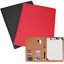 Business Leather Padfolio Portfolio Folder Organizer Resume Notebook 2 Colors