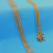 "5X 24"" Wholesale Jewelry 18K Gold Filled Singapore Chains Necklaces For Pendants"