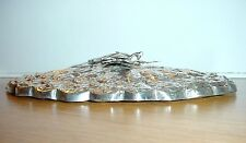 Antique Ottoman Turkish Sterling Silver Mirror with Tugra / Repousse Hand Mirror
