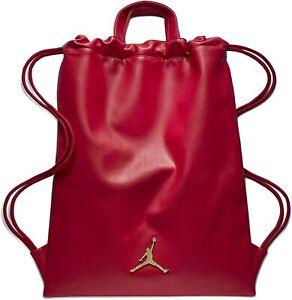 Unisex Nike Jordan Jumpman Faux Leather Drawstring  Sack Pack [9A0191-R78]