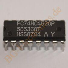 2 x PC74HC4520P Dual 4-Bit Synchronous Binary Counter Philips DIP-16 2pcs