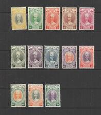 Malayan States Kelantan 1937-1940 to $1 MH , SG 40 - 52