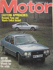 Motor magazine 20/3/1982 featuring Toyota Celica road test, Hyundai