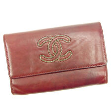 Chanel Wallet Purse Long Wallet COCO Red Woman Authentic Used Y5218