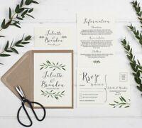 Natural Woodland Wedding Invitation Set