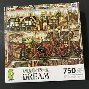 Ceaco Imag In A Dream TREETOWN Jigsaw Puzzle 750 Pieces