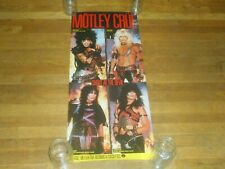 Motley Crue shout at the devil 15 x 36 Promo Poster original 1983 elektra
