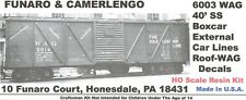 WAG RR 40' XM-1 SS Boxcar KIT 6003, GREAT DETAILS