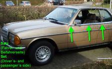 SET - Mercedes W123 C123 123 CD CE wheaterstrip moulding coupe chrome trim door