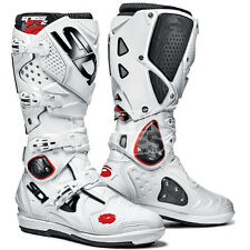 NEW SIDI CROSSFIRE 2 SRS MOTOCROSS MX ENDURO BOOTS WHITE WHITE UK 8 EURO 42