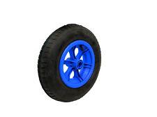 "16"" BLUE SPOKED pneumatic wheelbarrow wheel 4.80-8 BENT valve"