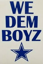 NFL Dallas Cowboys Color Vinyl Decal for Car Window cup Sticker WE DEM BOYZ